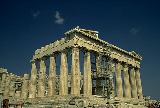 The Parthenon, southeastern corner. -  by Kevin T. Glowacki and Nancy L. Klein
