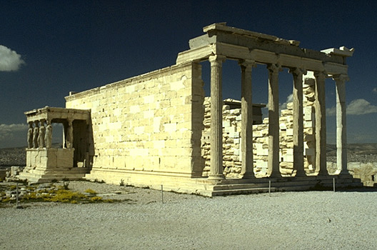 South and east sides of the Erechtheion. - View from the southeast. by Kevin T. Glowacki and Nancy L. Klein