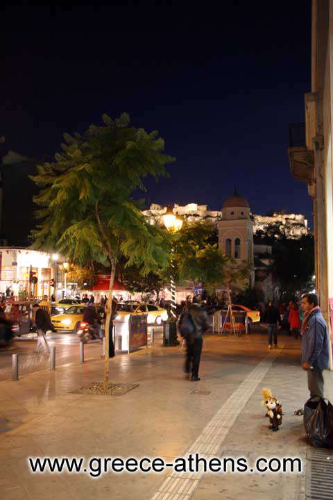 ATHINAS STREET - View of Monastiraki square and Acropolis from Athinas street