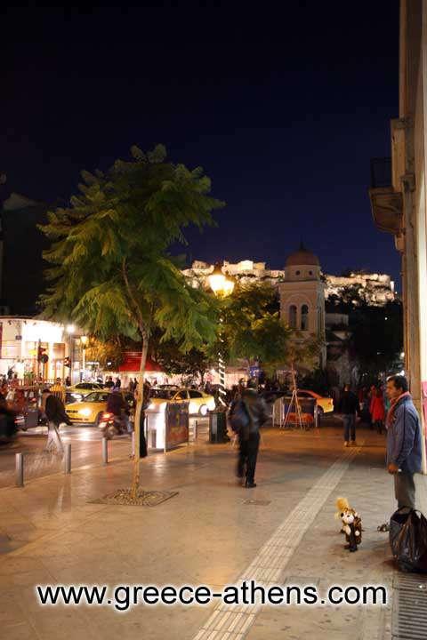 ATHINAS STREET - View of Monastiraki square and Acropolis from Athinas street