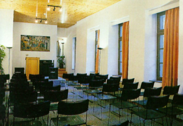 Seminars - The main building of the Lassanis Mansion contains, apart from the exhibition space, the reception area, the Director's office, the secretariat and the library of the Museum (also donated by Fivos Anoyanakis). The out-building is converted into an annex