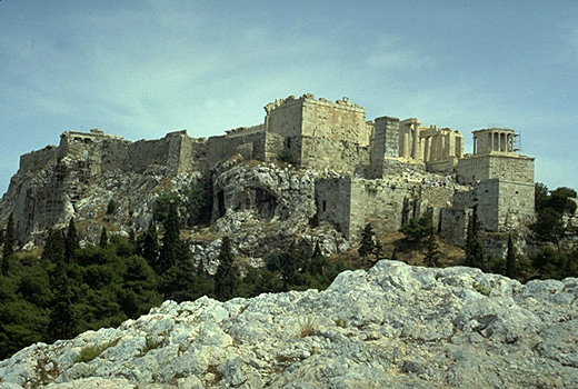 The Acropolis as seen from the Areopagus. - View from the northwest.