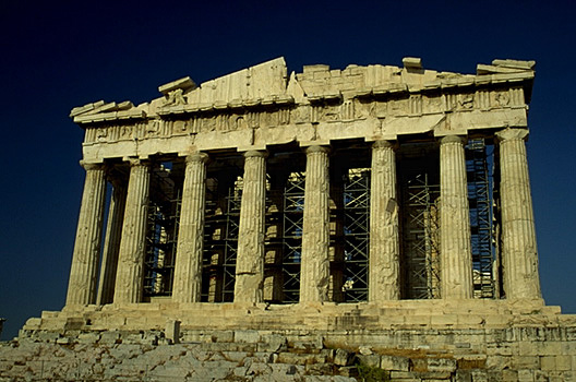 The Parthenon, western facade. -  by Kevin T. Glowacki and Nancy L. Klein