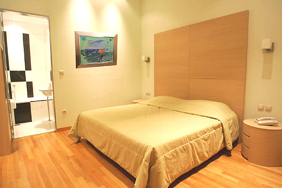 Image of double room of Art hotel in Athens city Greece. CLICK TO ENLARGE