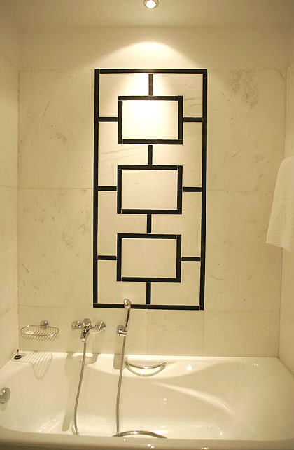 Image of the bathroom of Art Hotel in center of Athens. CLICK TO ENLARGE