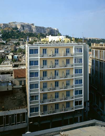 The external view of Plaka Hotel CLICK TO ENLARGE
