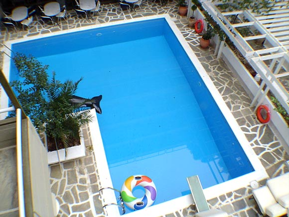 Picture of pool of the Apollonia hotel apartment located in Varkiza, Athens. CLICK TO ENLARGE