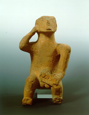 Greece Athens image – neolithic figurine of an ithyphallic seated man