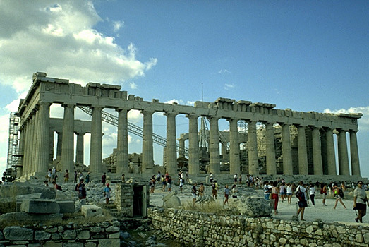 The Parthenon, northern side. - View from the north (near the north wall of the Acropolis, east of the Erechtheion).